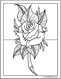 See more ideas about coloring pages, rose coloring pages, coloring books. 73 Rose Coloring Pages Customize Pdf Printables