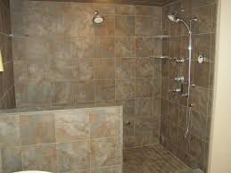 Bathroom , Barrier-Free Access Bathroom with Doorless Shower Designs :  Nicely Bathroom With Doorless Shower Designs