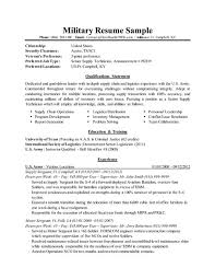 Example Military Resume Simple Military Resume Examples Swarnimabharathorg