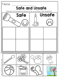 Safe and Unsafe- Great activity to help teach preschool students ...