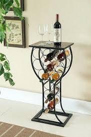 unique wine storage rack bottle holder metal stand display table home bar liquor ideas