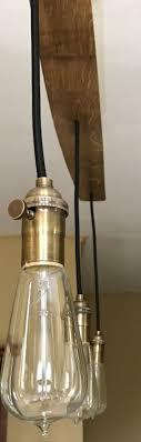 reclaimed industrial lighting. industrial reclaimed lighting solid oak by trishandtomvintageco
