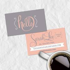 Personal Info Cards Premade Business Card Design Calling Cards Customized With Your
