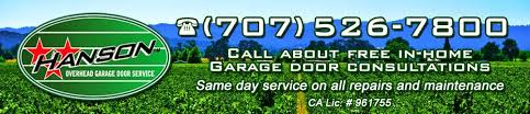 hanson garage doorOverhead Garage Door Service Sonoma County