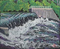 portrait of the river in paint markers