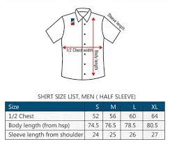 Panfilo Linen Shirts Linen Casual Shirt Size Chart