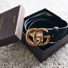 gucci leather belt with double g buckle small