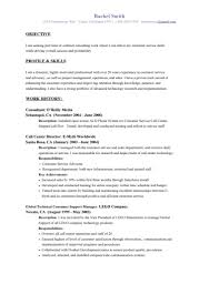 Resume Objective Examples Customer Service Free For S
