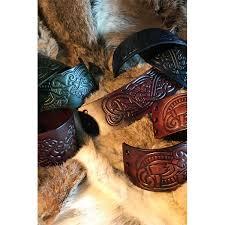 viking leather cuffs