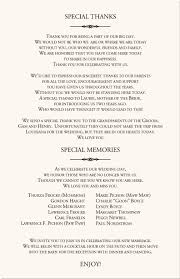 sample wedding program wording wedding program wording wedding programs wedding program wording