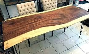 dining table made of solid wood