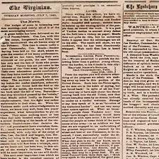 1800 Newspaper Template Newspaper Coverage Of The 1863 New York City Draft Riots