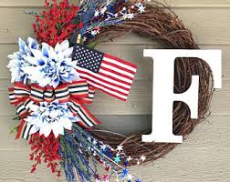 patriotic wreaths for front door4th of july wreath  Etsy
