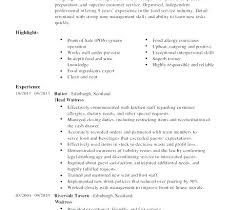 Detailed Resume Template Cool Restaurant Resume Templates Food Server Template Cocktail Waitress