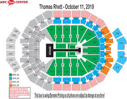 Yum Center Detailed Seating Chart Center Seat Numbers Best Examples Of Charts