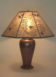 copper table lamp mica lamp shade