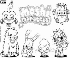 Small Picture Moshi Monsters coloring pages printable games