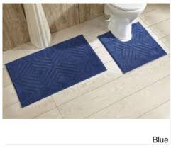 cotton bathroom rugs unique blue cotton chevron tufted bathroom rug decor with non skid backing gallery