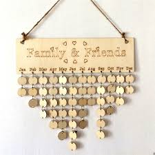 Family Memo Board Beauteous Wooden Family Friends Birthday Anniversary Calendar Signature Plans