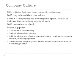 b marketing management case study report zappos