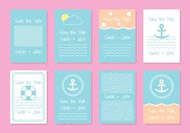 Nautical Wedding Invitation Card Templates Download Free Vector