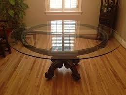 round glass dining table. Wonderful Round Large Round Glass Dining Room Table Decor Ideas And  Throughout