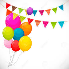 Happy Birthday Balloons Banner Color Glossy Happy Birthday Balloons Banner Background With Party