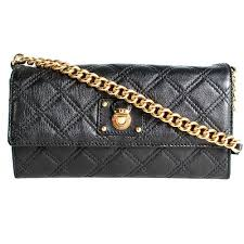 Marc Jacobs Quilted Leather Ginger Crossbody Wallet &  Adamdwight.com