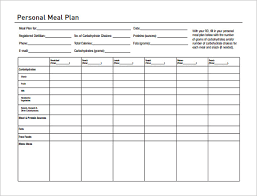 Diabetes Meal Planning Pdf 20 Diabetic Meal Planning Template Simple Template Design