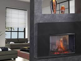 image of indoor outdoor see thru gas fireplace