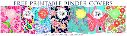 Printable Binder Cover Jessica Marie Design Blog Preppy Printable Binder Covers