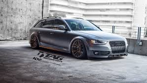 Bold Matte Gray Audi A4 Allroad Rolling on Air Suspension and ADV1 ...