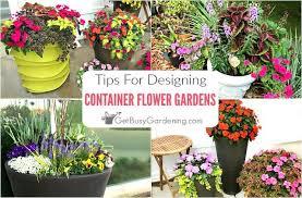 container flower gardening design tips