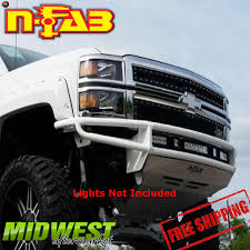 N-Fab Black RDS LED Light Mount Front Bumper For 2014-2015 Chevy ...