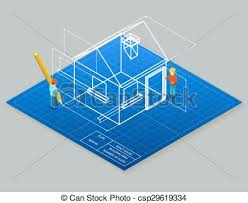 architecture design blueprint. Interesting Architecture Architectural Design Blueprint Drawing 3d Isometric Illustration Throughout Architecture