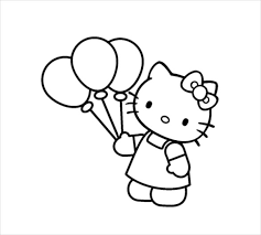 Small Picture Hello Kitty Coloring Page 10 Free PSD AI Vector EPS Format