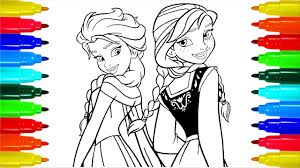 Coloring Pages Disney Frozen Cartoon Elsa And Anna Colouring Pages