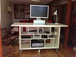 standing office desk ikea. artistic wooden ikea stand up desk with storage design in living room brown chair standing office