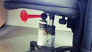 Office desk pranks ideas Taihan Co Air Horn Taped Under Chair Forooshinocom 21 Hilarious Office Pranks That hopefully Wont Get You Fired