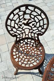 to spray paint metal outdoor furniture