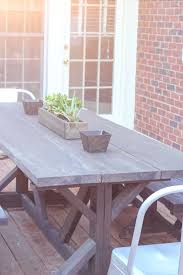 update here is the table on the deck at our new house diy outdoor farmhouse table