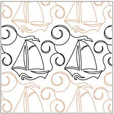 1082 best Free Motion Quilting Ideas images on Pinterest | Free ... & High Seas Quilting Pantograph available through Urban Elementz Adamdwight.com