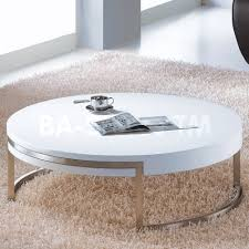 Phi Modern Round Coffee Table High Gloss Tables Unusual White Ikea Design