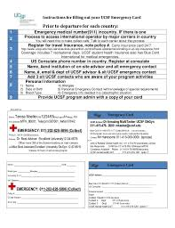 Emergency Card Template Ucsf Wallet Card Template