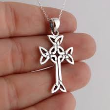 details about celtic trinity cross necklace 925 sterling silver irish celtic cross pendnat