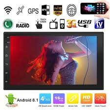 Android 8.1 Quad Cores <b>7 Inch 2 DIN</b> Touch Screen Car HD MP5 ...