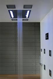 shower stall lighting. fine shower high end rain shower head installed in the ceiling bathroom with led  lighting for stall