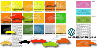 Vw Spring Color Chart P E European Paint Sebeetles Com