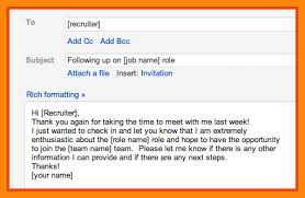 Follow Up Emails Recruiters Best Ideas Of Sample Email Recruiter