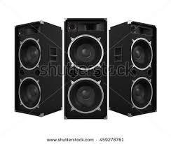 concert speakers system. large audio speakers. 3d rendering concert speakers system